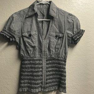 Elastic basic blouse